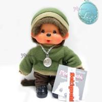 Monchhichi 20cm Fleece Cap & Sweat Girl Green 236050