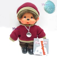 Monchhichi 20cm Fleece Cap & Sweat Girl Red 236060