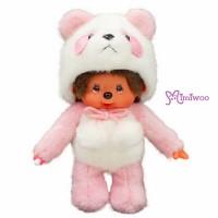 Monchhichi S Size Animal MCC Standing Panda Pink 236550