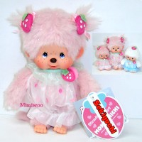 236820 Sekiguchi Monchhichi 20cm Plush Doll Strawberry Pink