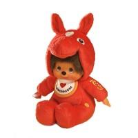 Monchhichi x Rody Horse S Size Plush Sekiguchi MCC Red  237040