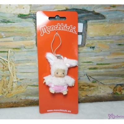Monchhichi Baby Bebichhichi Friend Plush Mascot Phone Strap - Bunny 23835