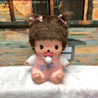 Monchhichi Bebichhichi Plastic Money Savings Coin Bank Pink Girl 238790