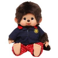 Monchhichi L Size Soft Head Bowling Shirt MCC Sitting Boy 241378