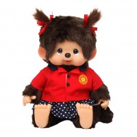 Monchhichi L Size Soft Head Bowling Shirt MCC Sitting Girl 241385