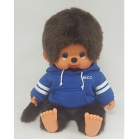 Monchhichi L Super Soft Head Sitting MCC Boy Blue Hoodie 241453