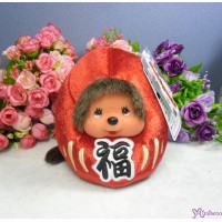 Monchhichi 13cm Plush Daruma Lucky Bean Bag MCC RED 241550