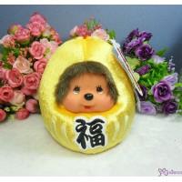 Monchhichi 13cm Plush Daruma Lucky Bean Bag MCC Gold 241560