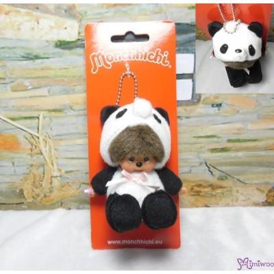 Monchhichi 10cm Plush Mascot Animal Keychain - Sitting Panda 242600