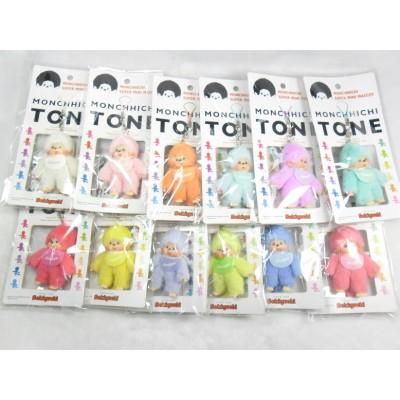 Monchhichi Tone 7.5cm Plush Mini Mascot Keychain Phone Strap - Pastel Pink 2490