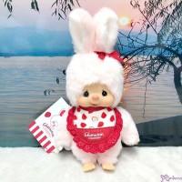 """Monchhichi Chimutan I Love Strawberry Bunny S Size Plush 250530 """"PRE-ORDER"""""""