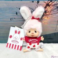 Monchhichi Mascot Chimutan I Love Strawberry Bunny Plush 250547