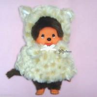 Monchhichi S Size MCC Cat Poncho Beige 254510