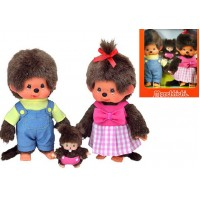Monchhichi S Size MCC Boy & Girl + BBCC Bebichhichi Baby Family Box Set 254870