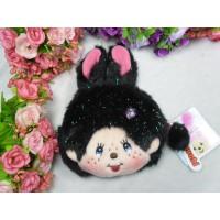 Monchhichi Bunny 13 x 18cm Plush Coin Bag Passcase Card Case with Buckle  Black 255840 df40b5a053dd8