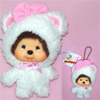 Monchhichi Big Head Keychain Mascot Charming Animal Bear 255890