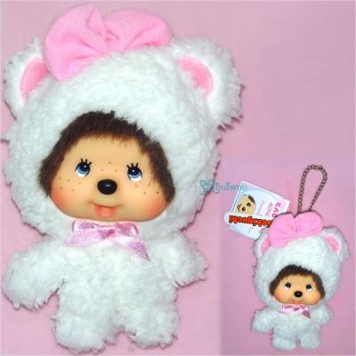 Monchhichi Big Head Keychain Mascot Charming Animal Bear 255890
