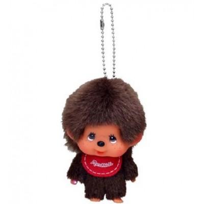 Big Head Monchhichi Mascot SS Size Keychain Red Bib Boy 257120