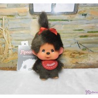 Big Head Monchhichi Mascot SS Size Keychain Red Bib Girl 257130