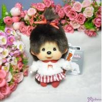Monchhichi Big Head MCC Mascot Keychain Moco Moco Tee Girl 258871
