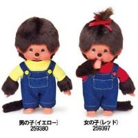 Monchhichi S Size Plush Denim Overall & Tee (BOY & GIRL)  259380+259397