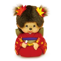 Monchhichi S Size MCC Kimono Scarlet Maple Leaves Bean Bag 259472