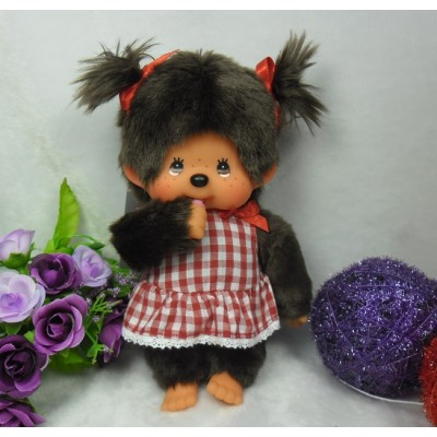 Monchhichi S Size MCC Dressed in Gingham Checker Girl 259984