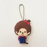 Monchhichi Soft Plastic Mascot MCC Ball Chain Keychain - Girl 260447