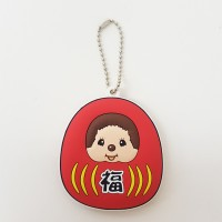 Monchhichi Soft Plastic Mascot MCC Ball Chain Keychain - GOOD LUCK 260454