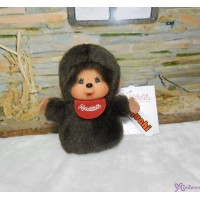 Monchhichi Finger Puppet MCC Red Bib Boy Mascot Keychain 260850