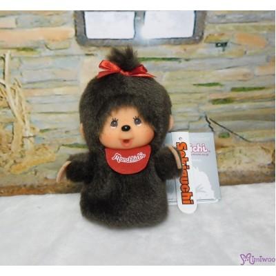 Monchhichi Finger Puppet MCC Red Bib Girl Mascot Keychain 260867