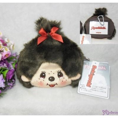Monchhichi Mascot Visa Card Pass Case + Zipper Coin Bag - Girl 260997
