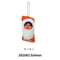Monchhichi Mascot Japan Sushi MCC Plush Keychain Salmon 261062