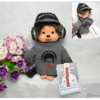 FES Monchhichi S Size Plush Rock DJ MCC Boy with Headphone 261130