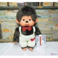 Monchhichi Heart Knit 26cm M Size MCC Boy Plush Doll 261284