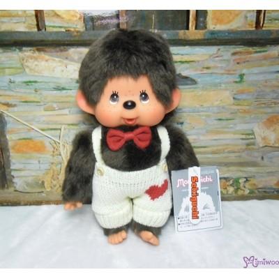 Monchhichi Heart Knit 26cm M Size MCC Boy Plush Doll 261284