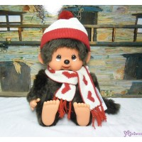 Monchhichi Heart Knit 35cm Super Soft L Size Boy Plush 261291