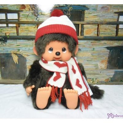 Monchhichi Heart Knit 35cm Super Soft L Size Boy Plush 261291