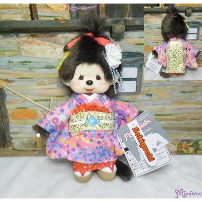 Monchhichi S Size 23cm Plush Japanese Dance Girl Maiko 261703