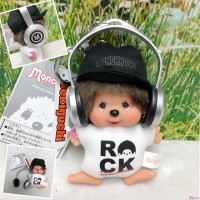 FES Monchhichi 2018 Plush Mascot Rock DJ Boy with Headphone NEW 262168