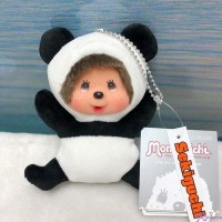 Monchhichi Plush Mascot 13cm Keychain Panda 262199