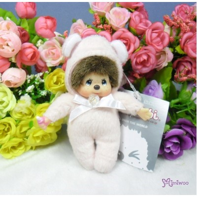 Monchhichi 10cm Plush Birthday Mascot Birth Stone Keychain - April 2674