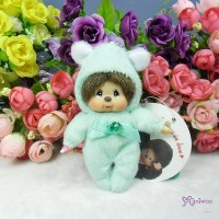 Monchhichi 10cm Plush Birthday Mascot Birth Stone Keychain - May 2675