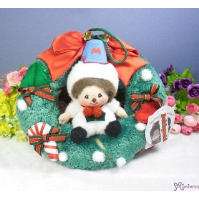Monchhichi Christmas Door Ornament MCC Snowman X'Mas Ring 2799