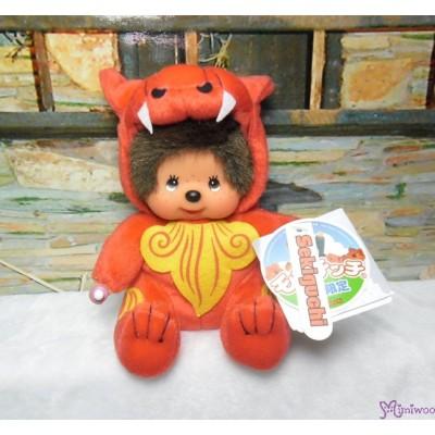 Monchhichi Plush S Size Japan Okinawa Limited - Shisa Red 282200