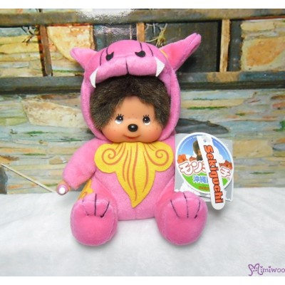 Monchhichi Plush S Size Japan Okinawa Limited - Shisa Pink 282220