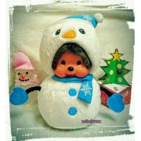 Monchhichi 19cm Plush Christmas X'Mas Snowman MCC 288045