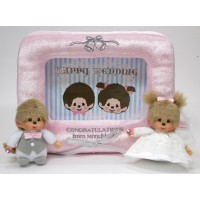 Monchhichi Wedding Picture Frame Stuffing Plush Soft Photo Holder 290880