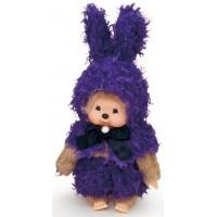 Monchhichi S Size Plush MCC Amimal Cape - Blue Bunny 292660