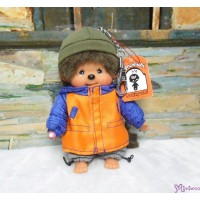 Monchhichi SS Size Plush 15cm Mascot Keychain - Streetway Parker Boy 29298